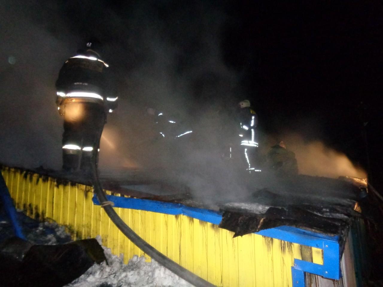 Сегодня ночью случился пожар на ферме